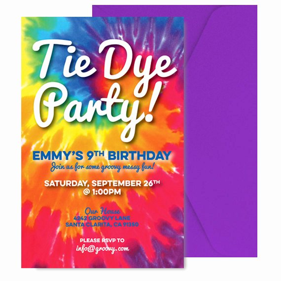 Tie Dye Invitation Template Free Inspirational Tie Dye Invite Tie Dye Invitation Tie Dye Party Invitation