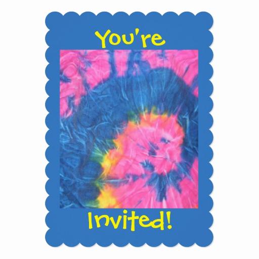 Tie Dye Invitation Template Free New Pastel Tie Dye Look Invitations