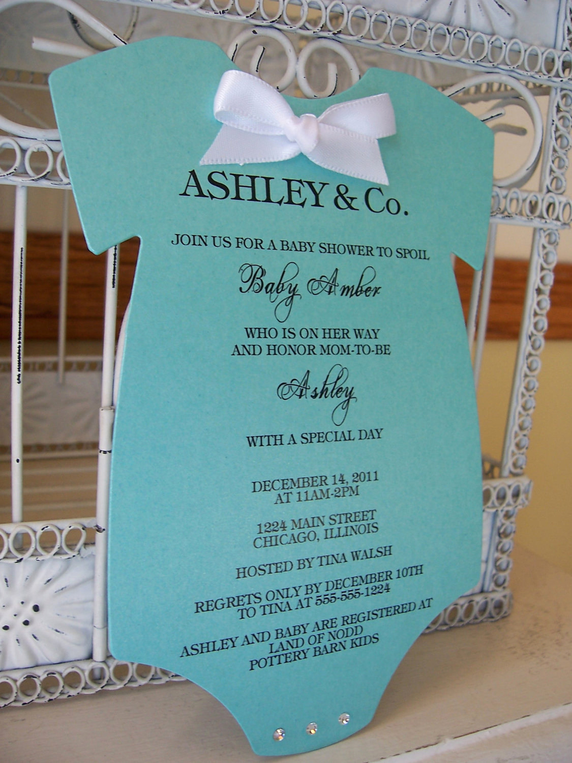 Tiffany and Co Invitation Template Awesome Tiffany Inspired Baby Shower Invitation Custom order for