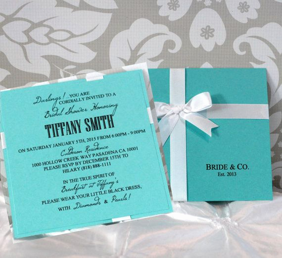 Tiffany and Co Invitation Template Best Of Tiffany & Co Inspired Bridal Shower Invitations by