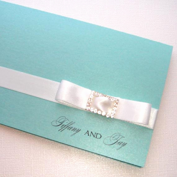 Tiffany and Co Invitation Template Fresh Tiffany Folded Invitation Sample by Embellishedpaperie On Etsy