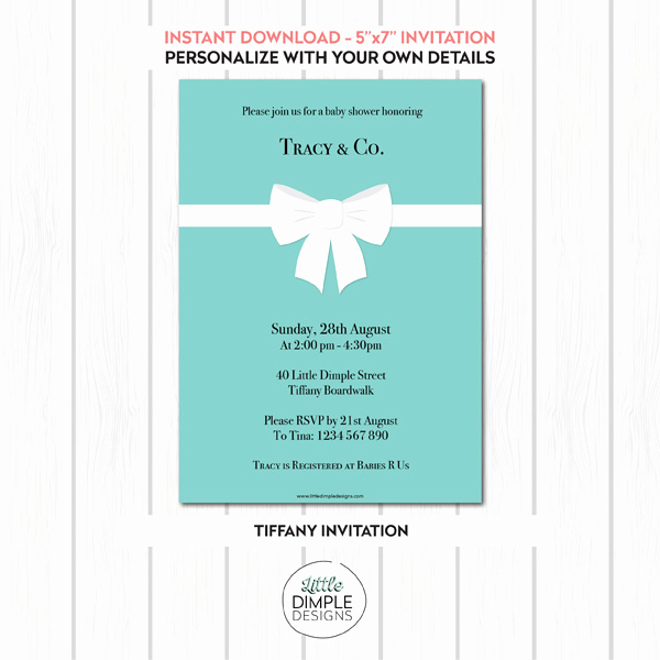 Tiffany and Co Invitation Template Fresh Tiffany Invitation Template Printable