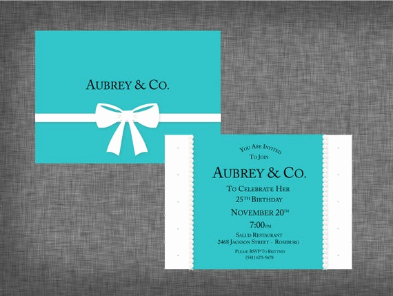 Tiffany and Co Invitation Template Fresh Tiffany theme Party Invitation Tiffany theme Invite Tiffany