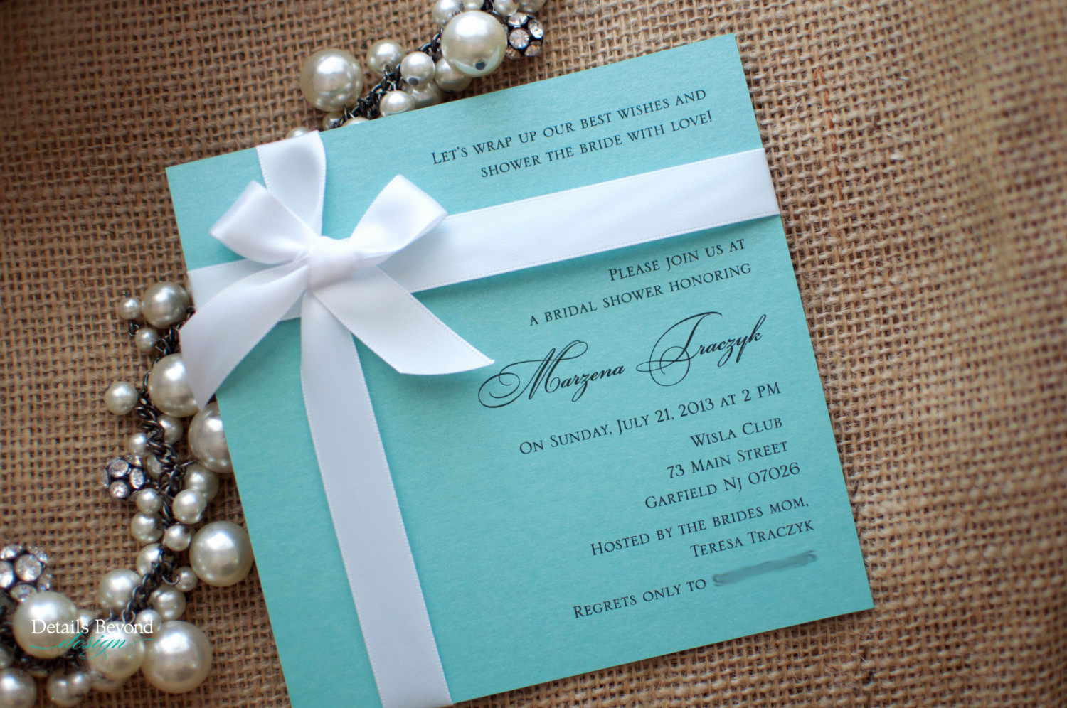 Tiffany and Co Invitation Template Lovely Tiffany Box Bridal Shower Invitation On Tiffany Blue