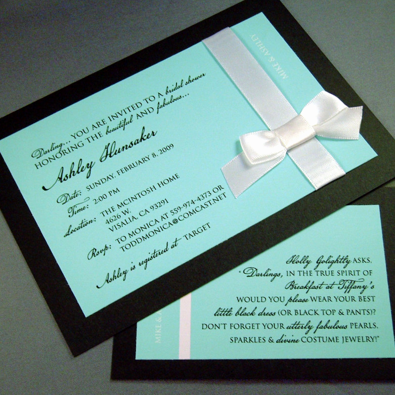 Tiffany and Co Invitation Template Luxury Etsy Your Place to and Sell All Things Handmade