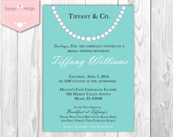 Tiffany and Co Invitation Template New 69 Best Images About Bridal Shower On Pinterest