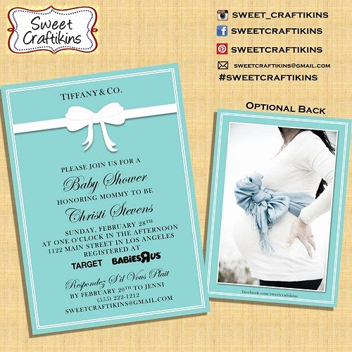 Tiffany and Co Invitation Template New Tiffany Invitation Baby Shower Birthday Invite Digital