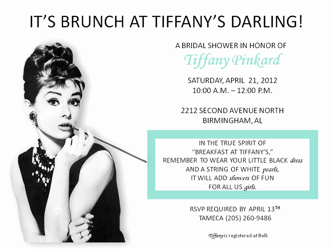 Tiffany and Co Invitation Template Unique the Creative Chic A Breakfast at Tiffany S themed Shower