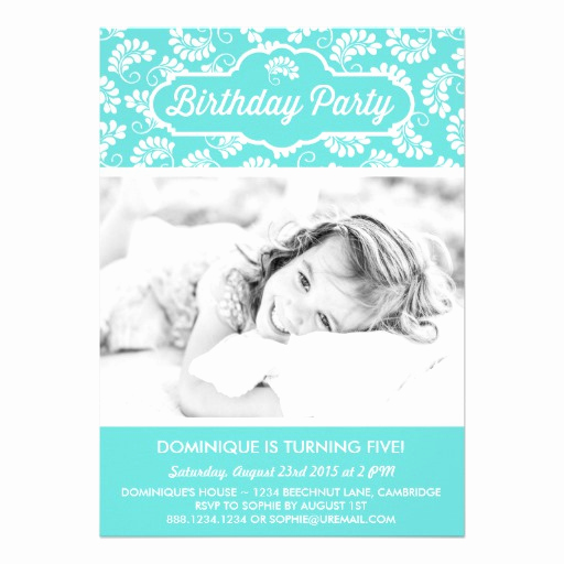 Tiffany and Co Invitation Template Unique Tiffany Blue Floral Pattern Birthday Invitation