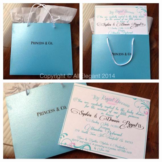 Tiffany Baby Shower Invitation Awesome Princess & Co Inspired Baby Shower Invitation by Allelegant