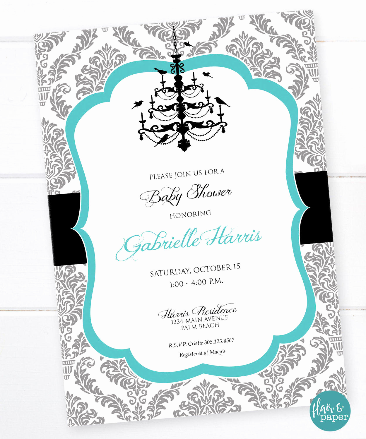 Tiffany Baby Shower Invitation Beautiful Breakfast at Tiffany S Baby Shower Invitation with