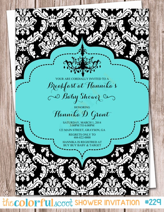 Tiffany Baby Shower Invitation Elegant Breakfast at Tiffany S Baby Shower Shower by thecolorfulscoot
