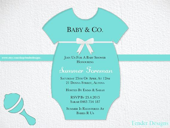 Tiffany Baby Shower Invitation Elegant Tiffany Baby Shower Invitation Baby & Co by Tenderdesigns