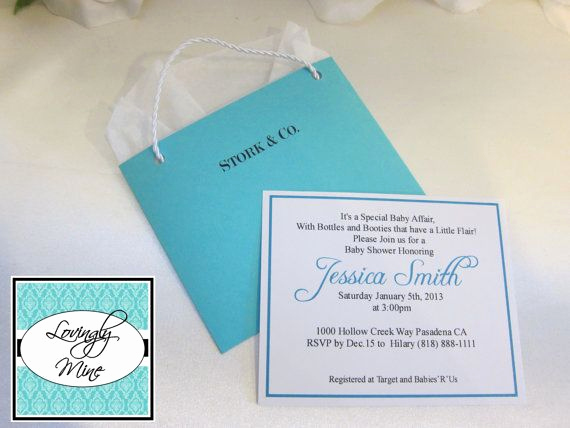 Tiffany Baby Shower Invitation Fresh Baby Shower Invitations Stork & Co Tiffany Co by