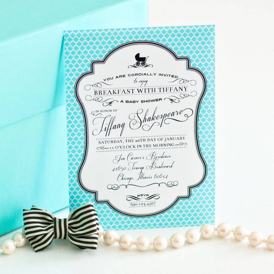 Tiffany Baby Shower Invitation Fresh Breakfast at Tiffany S Inspired Printable Invitation