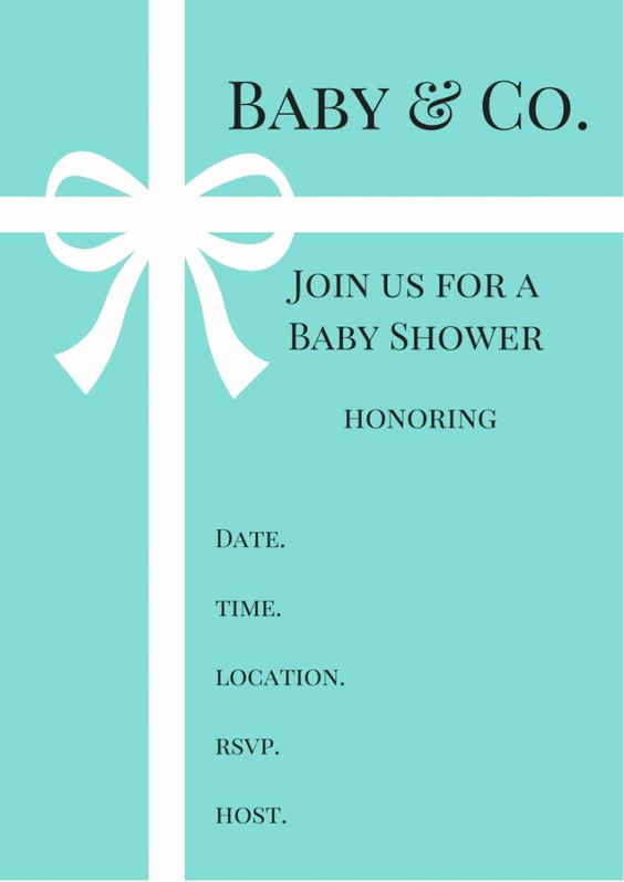 Tiffany Baby Shower Invitation Luxury Free Tiffany & Co Inspired Baby Shower Invitations Baby