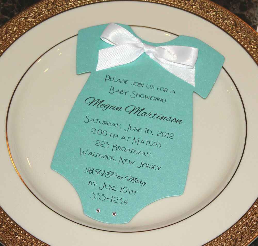 Tiffany Baby Shower Invitation New Baby Shower Invitation Tiffany Blue and Other Colors