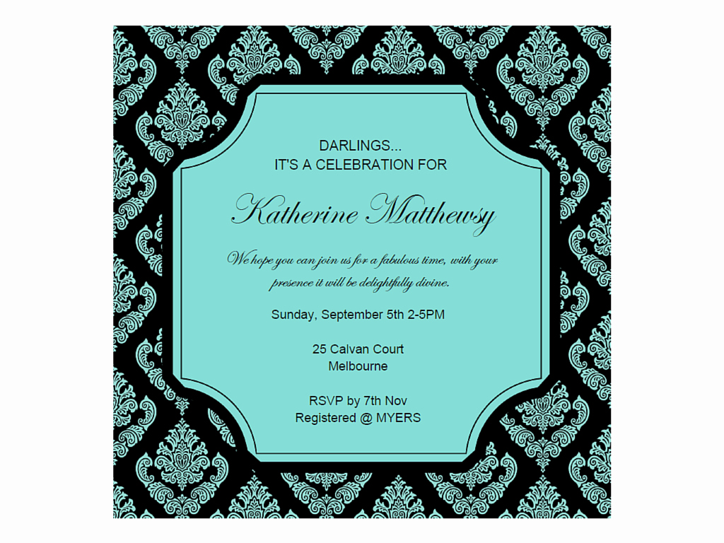 Tiffany Baby Shower Invitation New Editable Tiffany Invitations Magical Printable