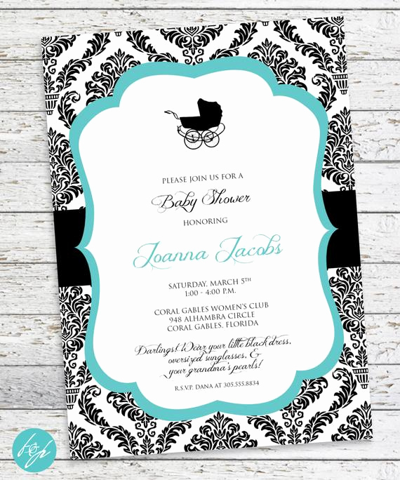 Tiffany Baby Shower Invitation Unique Breakfast at Tiffany S Baby Shower Invitation by Flairandpaper