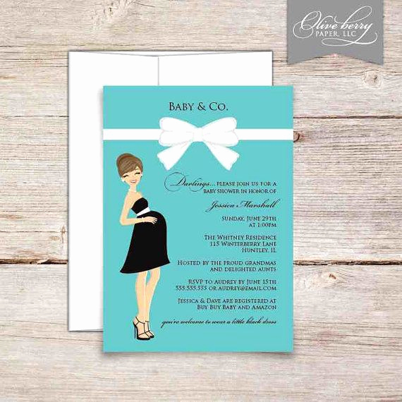 Tiffany Blue Baby Shower Invitation Awesome Tiffany Baby Shower Invitations by Oliveberrydigitals On