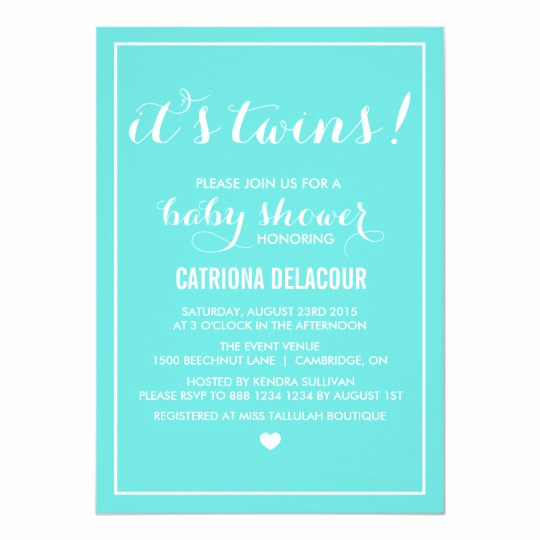 Tiffany Blue Baby Shower Invitation Awesome Tiffany Blue It S Twins Baby Shower Invitation