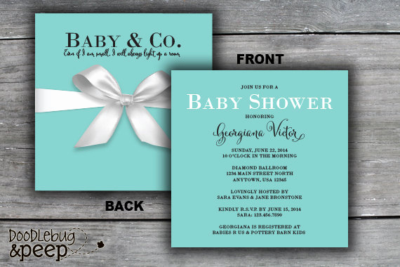 Tiffany Blue Baby Shower Invitation Beautiful Chandeliers & Pendant Lights