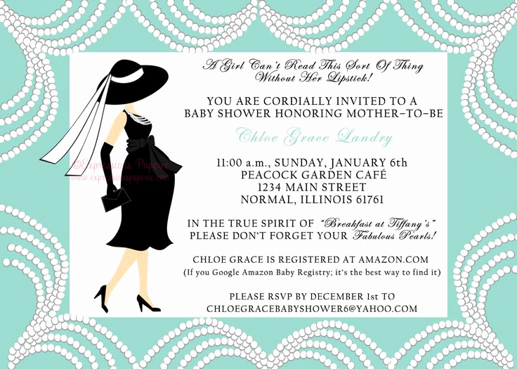 Tiffany Blue Baby Shower Invitation Best Of Breakfast at Tiffanys Baby Shower Invitation