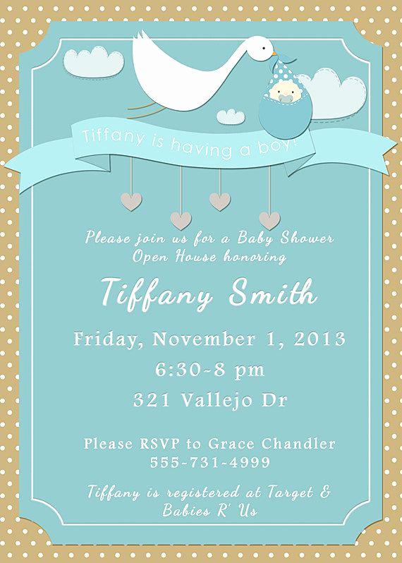 Tiffany Blue Baby Shower Invitation Inspirational Stork Tiffany Blue Baby Shower Invitation by