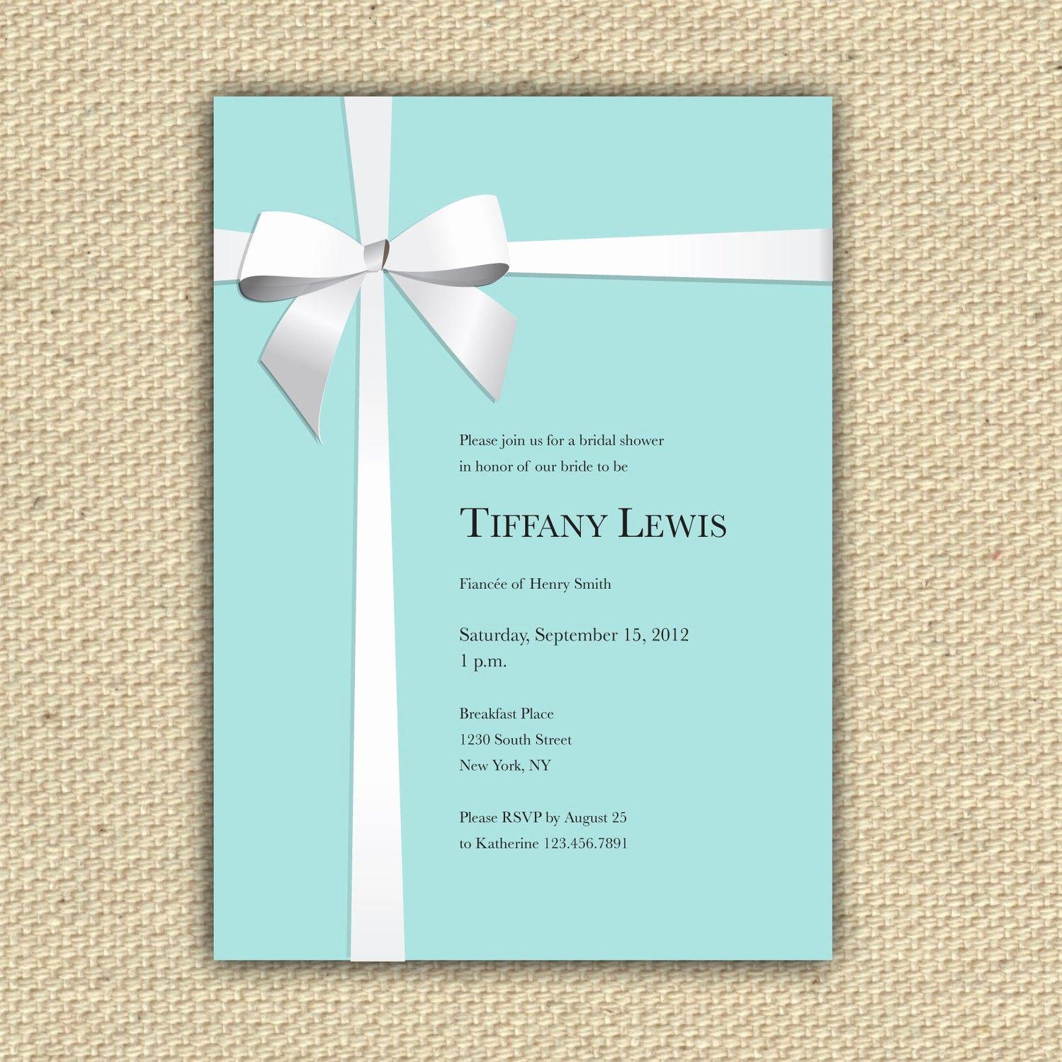 Tiffany Blue Baby Shower Invitation Unique Shower Invite Tiffanys Repin by Pinterest for Ipad