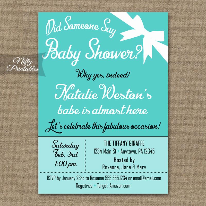 Tiffany Blue Baby Shower Invitation Unique Tiffany Blue Gender Neutral Baby Shower Invitations