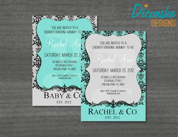 Tiffany Blue Baby Shower Invitation Unique Unavailable Listing On Etsy
