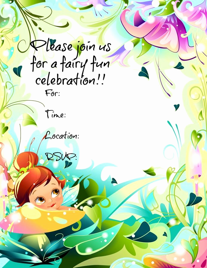 Tinkerbell Invitation Template Free Awesome Free Printable Fairy Invitations Freeprintables