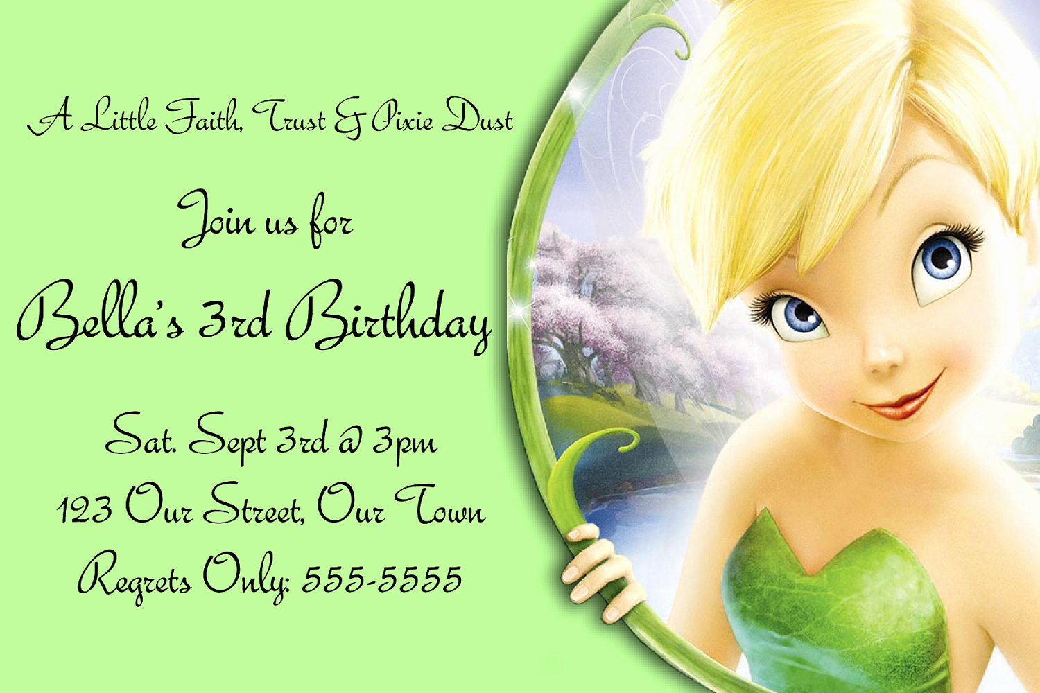 Tinkerbell Invitation Template Free Awesome Free Templates for Birthday Invitations
