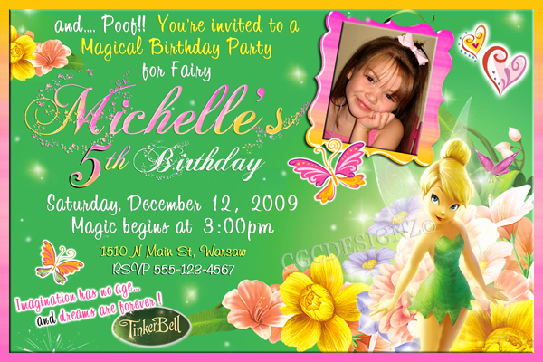 Tinkerbell Invitation Template Free Awesome Tinker Bell Birthday Party Invitatiion Ideas – Bagvania