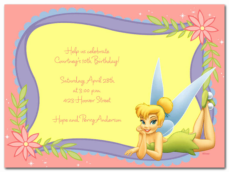 Tinkerbell Invitation Template Free Awesome Tinkerbell Blank Invitations