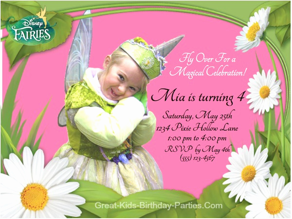 Tinkerbell Invitation Template Free Beautiful Tinkebell Invitations