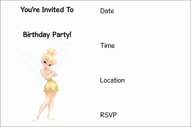 Tinkerbell Invitation Template Free Best Of Free Printable Tinkerbell Invitation Archives