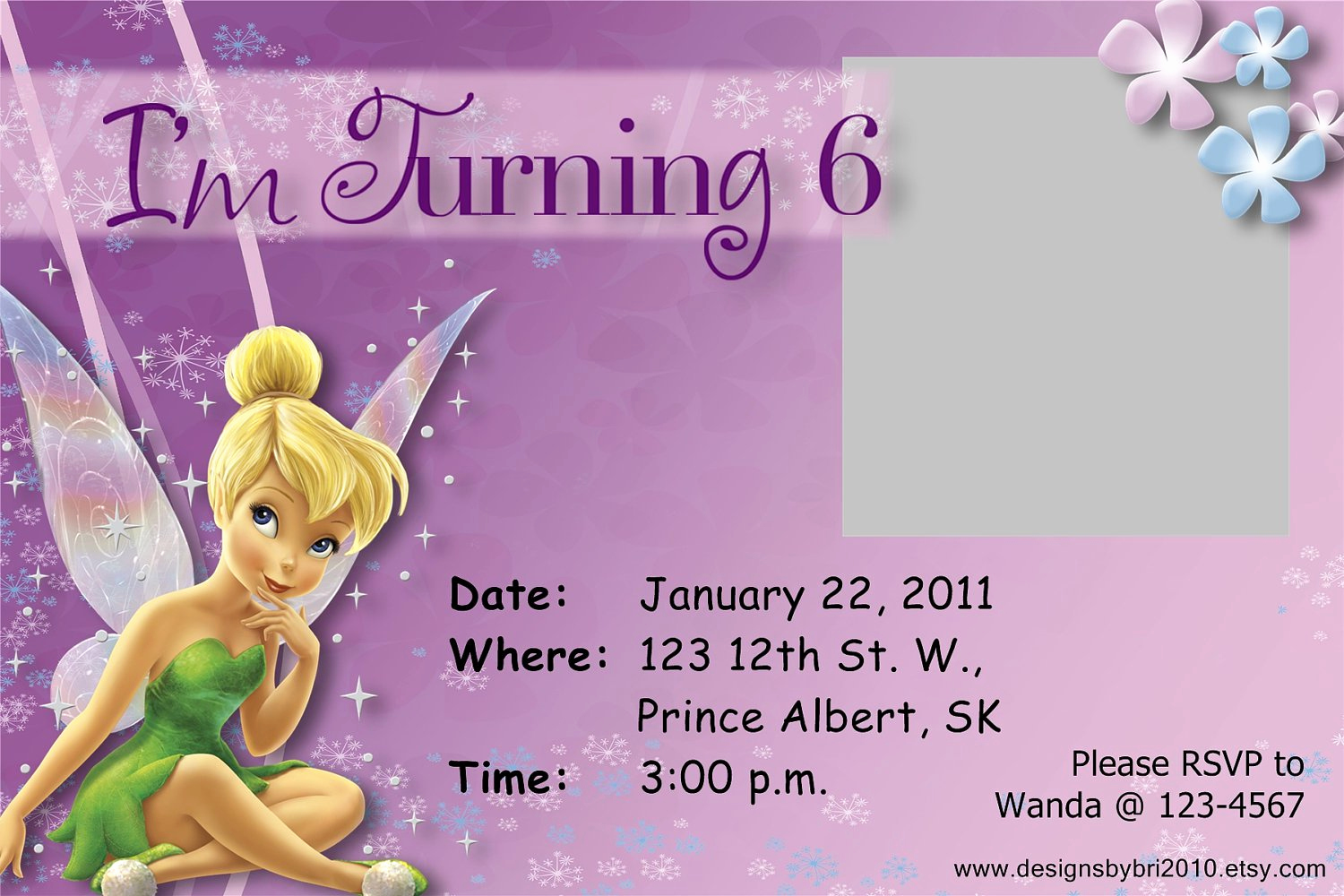 Tinkerbell Invitation Template Free Best Of Tinkerbell Birthday Invitations Free