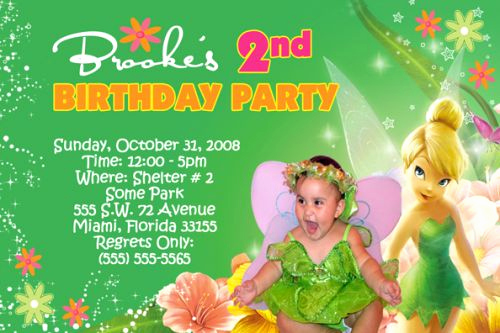 Tinkerbell Invitation Template Free Elegant Great Tinkerbell Birthday Invitation Ideas