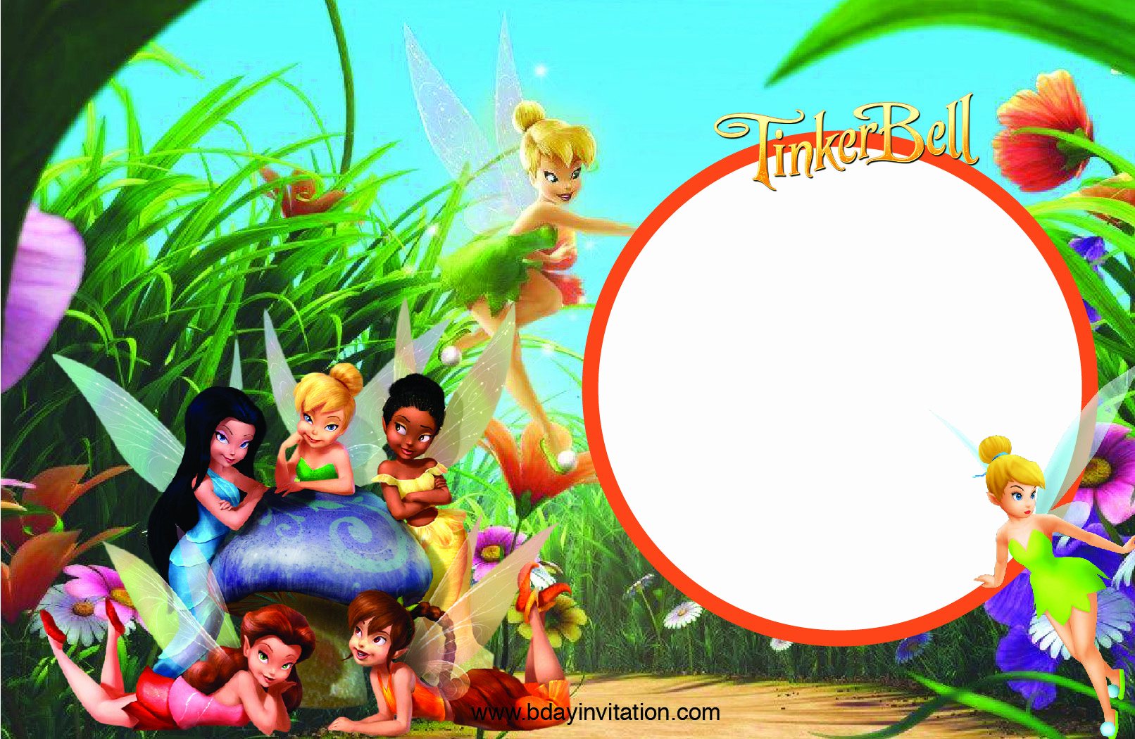 Tinkerbell Invitation Template Free Inspirational Awesome Free Printable Disney Tinkerbell Birthday