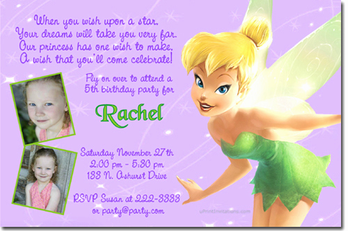 Tinkerbell Invitation Template Free Inspirational Tinkerbell Birthday Invitations Candy Wrappers Thank You