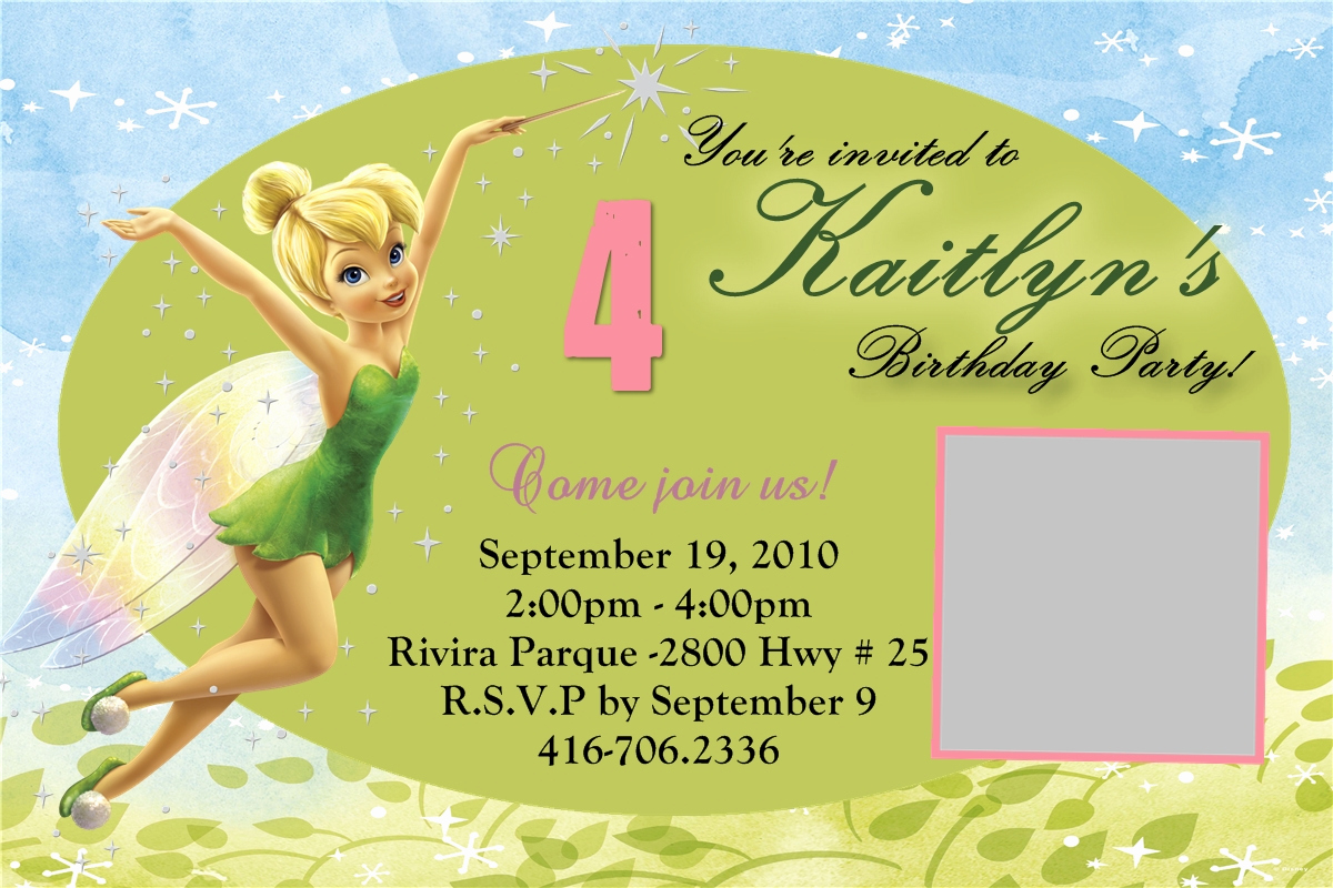 Tinkerbell Invitation Template Free Lovely Tinkerbell Blank Invitation
