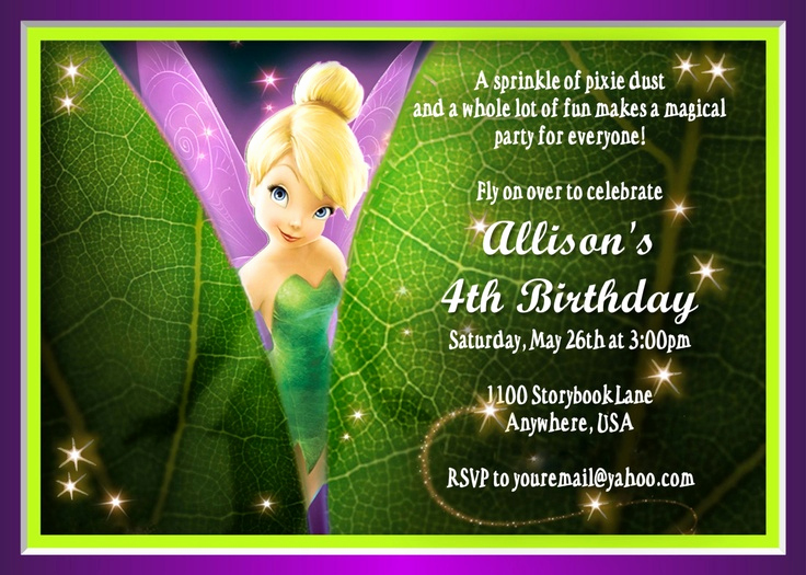Tinkerbell Invitation Template Free Luxury Tinkerbell Invitation Fairy Invitation Disney