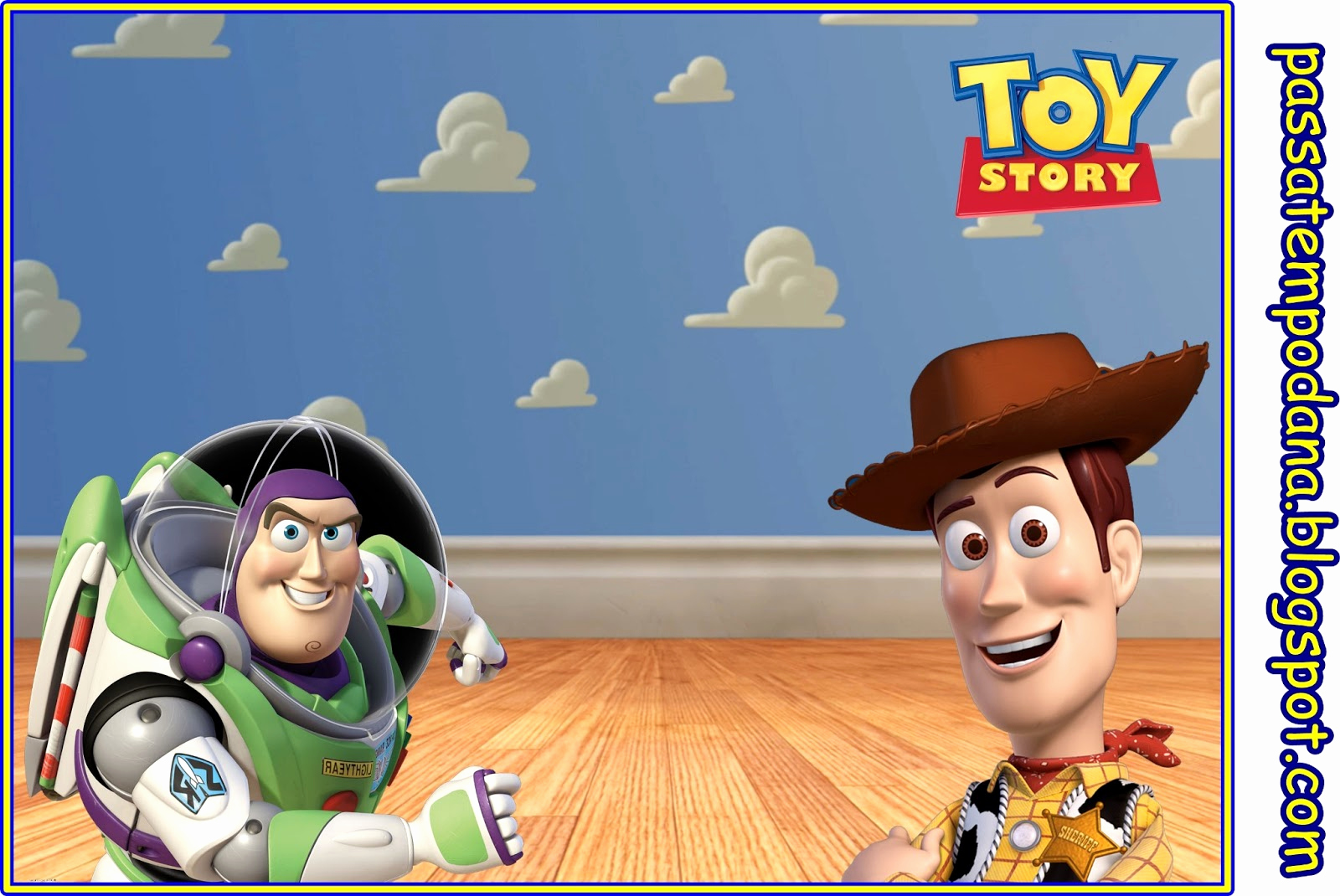 Toy Story Invitation Template Awesome Passatempo Da Ana Kit toy Story