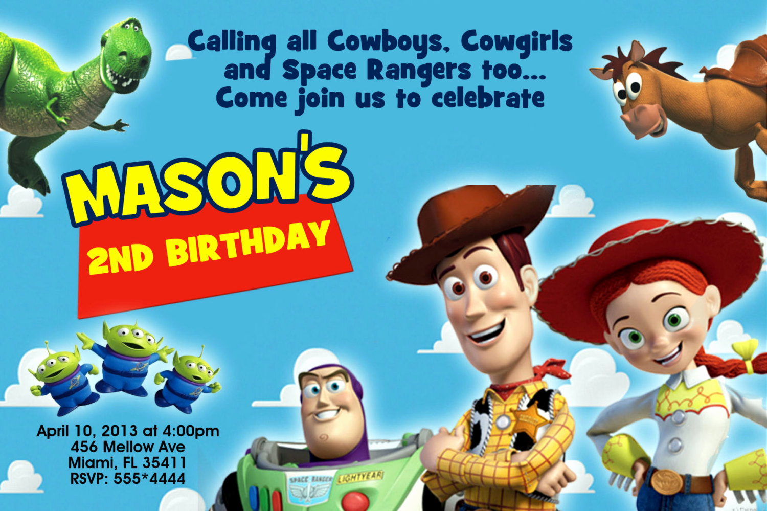Toy Story Invitation Template Download Awesome Mrs Invites On Etsy