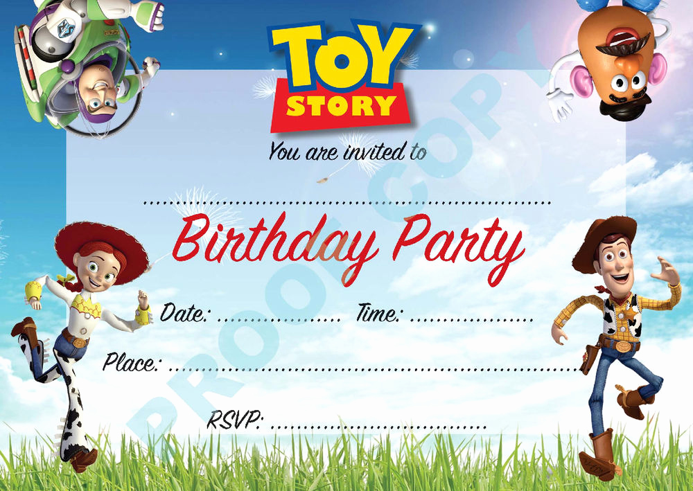 Toy Story Invitation Template Download Awesome toy Story Buzz Woody Kids Children Birthday Party
