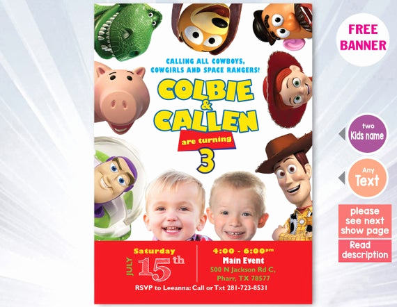 Toy Story Invitation Template Download Elegant toy Story Invitation Template toy Story Birthday Party