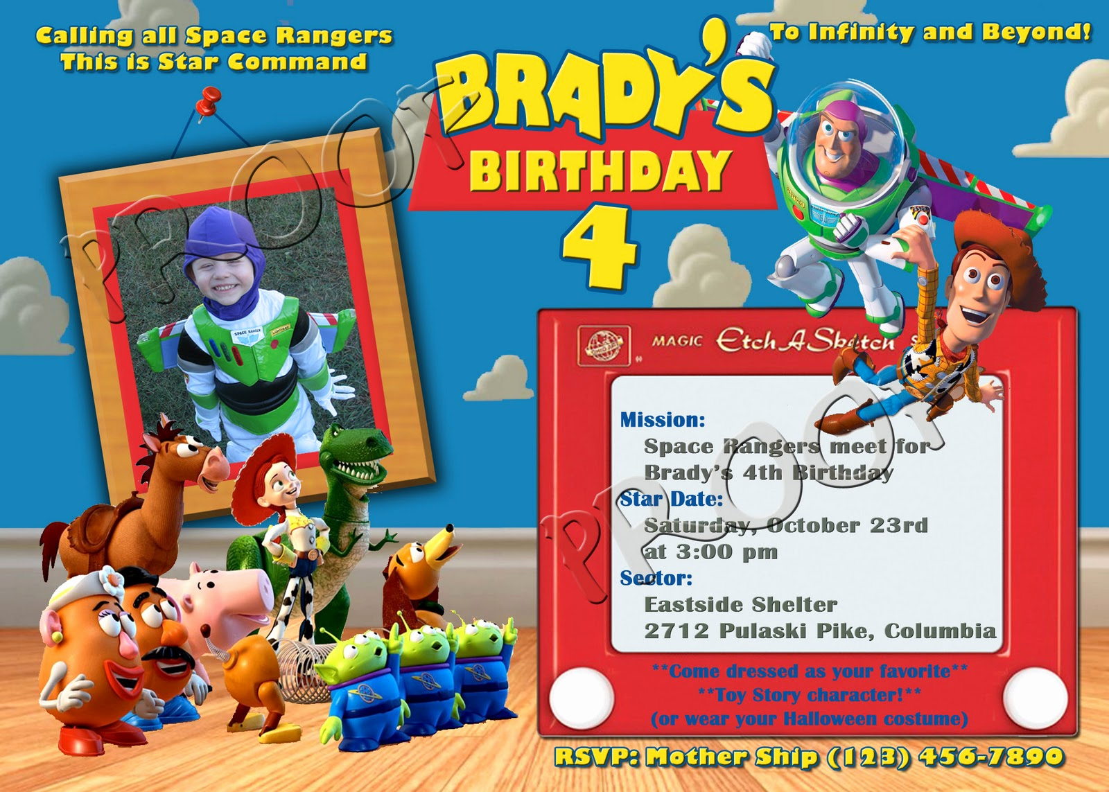 Toy Story Invitation Template Download New Free Personalized toy Story Birthday Invitations Template