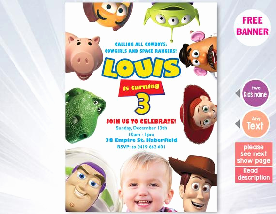 Toy Story Invitation Template Download New toy Story Invitation Template toy Story Birthday Party