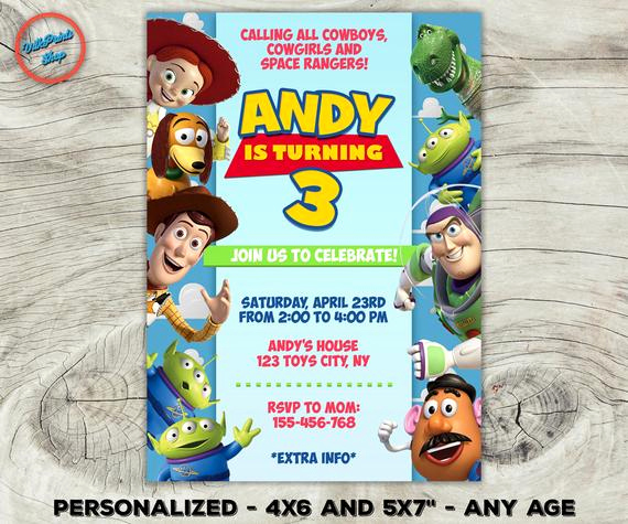 Toy Story Invitation Template Download New toy Story Invitation toy Story Birthday Invitation toy Story